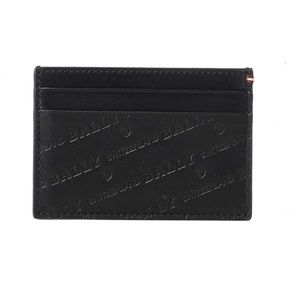 Bally Black Leather Card Case Made In Italy